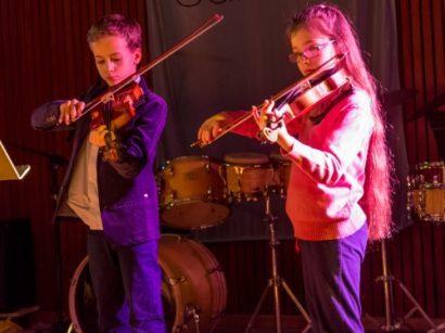 Duo violonistes enfants